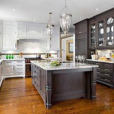 Jane Lockhart Interior Design - kitchens - u-shaped kitchen, breakfast area, hardwood floors, white cabinets, white cabinetry, white kitchen...