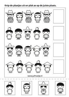 Preschool Worksheets, Preschool Activities, People Around The World, Around The Worlds, Around The World Theme, Math Patterns, Bible Story Crafts, World Crafts, Child Day