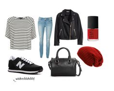 wickeddchildd styled outfit with new balance shoes