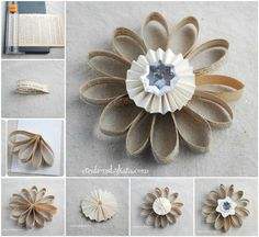 Creative Ideas - DIY Book Page Flower Christmas Ornament | iCreativeIdeas.com Follow Us on Facebook --> https://www.facebook.com/iCreativeIdeas