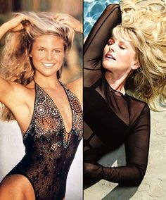 Christie Brinkley Then: 1979 Sports Illustrated Cover  Now: 2013 Social Life Magazine
