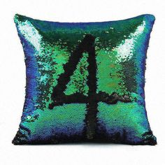 decorative bed pillows wholesale stained glass mermaid cushion cover US Seller
