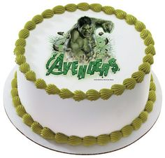 Incredible Hulk birthday cakeEdible Incredible Hulk Cake Topper Birthday Party Supplies The Avengers Movie | eBay