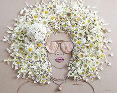 自然が教えるありのままの美しさ ボタニカルアートで作る肖像画に癒やされる