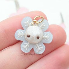 #kawaii #charms #polymer #clay #snowflake