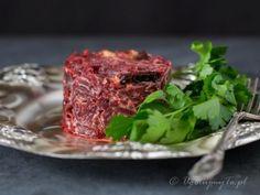 Sałatka z buraków Steak, Salads, Food, Salad, Chopped Salads, Meals, Steaks, Beef
