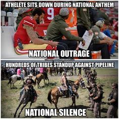 Truth! #StandWithStandingRock #DakotaAccessPipeline Of course the Standing Rock Sioux Tribe are actually in the right, were exercising their lawful right to peaceful protest.