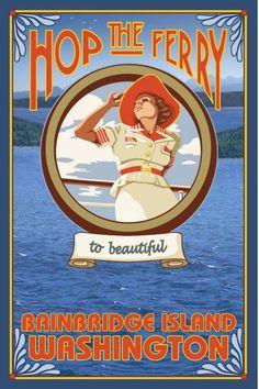 Woman Riding Ferry, Bainbridge Island, Washington