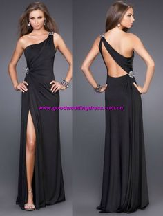 2013 New Arrival Real Photo Sexy Backless Dress Party Evening Elegant Long Cocktail Dress Size/Color customized-in Evening Dresses from Appa. Black Prom Dresses, Sexy Dresses, Fashion Dresses, Formal Dresses, Sexy Backless Dress, One Shoulder Prom Dress, Tango Dress, Long Cocktail Dress, Beautiful Gowns