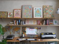 Katie Daisy's workspace. I'm hoping to add a few more of her works to mine.