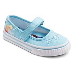 Disney® Toddler Girl's Frozen Canvas Shoes - Ice Blue 12