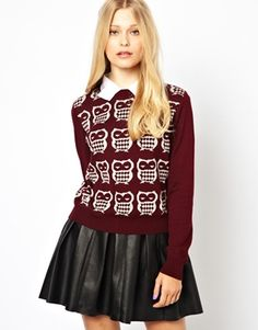 Suéter con diseño de búho de Pretty Vacant