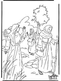 coloring pages for children on the story of ruth and naomi