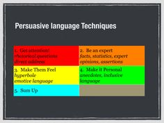 Writing Paper- Persuasive language techniques