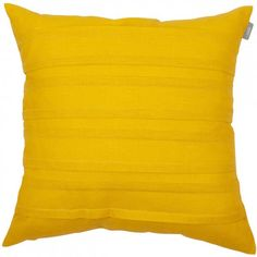 Spira Double Pleat Yellow Cushion