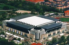 Parken Stadium in Copenhagen has a retractable roof and can hold up to spectators for soccer games and for concerts. Soccer Stadium, Football Stadiums, National Stadium, Field Of Dreams, Soccer Games, Copenhagen, Architecture Design, Around The Worlds, Europe