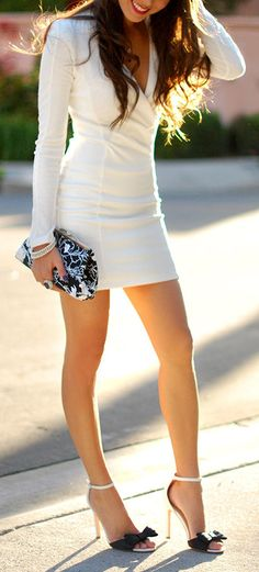 Bodycon Dress & Bow Heels ♥
