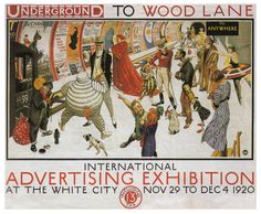 Creator: Frederick Charles Herrick (British illustrator, 1887-1970) Date: 1920 Materials:  Measurements:  Work description: promotional poster features some of the best-known advertising icons of the 1920s, including the Michelin Man, the Bisto kids, Mr. Punch, the Kodak Girl, and the Johnnie Walker striding gentleman. Work type: posters Image_Filename: 11090201 Subjects: Exhibition posters