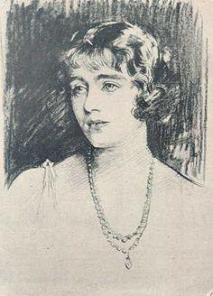Lady Elizabeth Bowes-Lyon, by John Singer Sargent