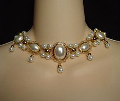 The Lady Alice - 18K Gold or Silver Plated Renaissance Medieval Tudor Elizabethan Styled Necklace