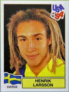 Henrik Larsson, Suécia. Figurinha da Copa do Mundo dos EUA em 1994.