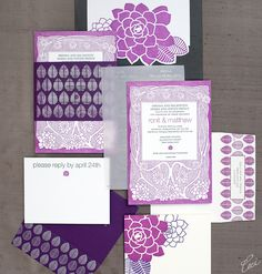 Ronit & Matthew - Wedding Invitations - Botanical - Ceci Couture - Ceci Wedding - Ceci New York