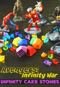 Perfect for that AVENGERS party, make your own edible Infinity Stones from Cake to celebrate AVENGERS: Infinity War! Avengers Infinity Stones, Avengers Infinity War, Marvel Avengers Comics, Marvel Avengers Assemble, Craft Activities For Kids, Crafts For Kids, Avengers Birthday, 9th Birthday