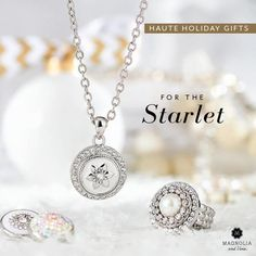 Perfect combination for the upcoming holidays.  Pair the Starlet Pendant and variegated chain, with the Showstopper ring, and keep it simple and elegant with white/pearl snaps...