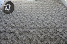 Handmade knitted blanket beige by HolaHandmade on Etsy