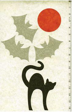 Fabric Fun Shapes - Halloween Bats, Cat & Moon plus Free Pattern