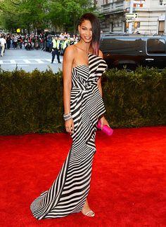 Gala benéfica del Costume Institute en el Metropolitan Museum of Art de Nueva York MET BALL 2013 | hola.com  En la imagen, la modelo Chanel Iman.