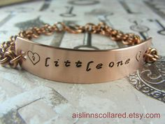 Littleone Handstamped Copper Chainmaille by aislinnscollared