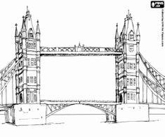 για ζωγραφική Μια κρεμαστή γέφυρα στο Λονδίνο