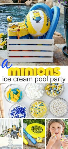 Host a Minions ice cream and pool party this summer with these tips and ideas #MinionsParty #sponsored