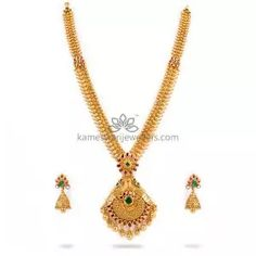 Buy Necklaces Online   Kanti Carved With CZ Pachi Pendant from Kameswari Jewellers Bold Necklace, Simple Necklace, Gold Bar Earrings, Gold Jewelry Simple, Antique Necklace, Necklace Online, Necklace Designs, Jewels, Jewerly