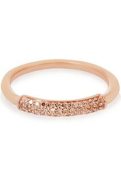 Monica Vinader | Stellar rose gold-plated diamond ring | NET-A-PORTER.COM