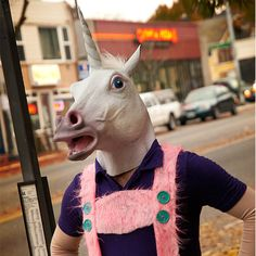 MAGICAL UNICORN MASK...haha, i'm thinking of being a unicorn this Halloween...I'd love it if I could convince a date to wear this!
