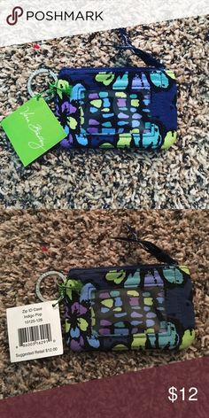 NWT Zip ID Case Indigo Pop NWT. Measures: 5x3 1/4. Sweet ID case for nurses, students, or anyone that doesn't want to lug a big purse around. Same day/next day shipping. Make bundle & save! Instagram: @kdstac012.  ✅ Bundles (make a bundle so I can send you a special discount)     ✅ Offers   (no offer too low for consideration)   ❌ Trades     ❌ Off PM transactions Vera Bradley Bags Wallets