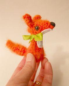 miniature Amigurumi fox by Treacher Creatures, via Flickr