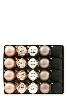 Buy Set Of 20 Copper & Black Baubles online today at Next: United States of America