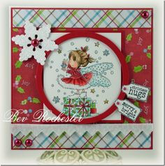 Card by Bev LOTV winter fairy magazing Christmas Fairy, All Things Christmas, Handmade Christmas, Fall Cards, Holiday Cards, Christmas Cards, Christmas 2015, Winter Holiday, Cute Cards