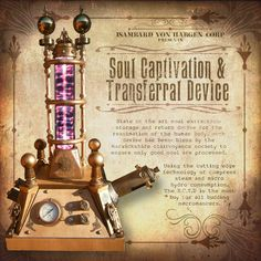 Soul Captivation & Transferral device Steampunk Frankenstein Laboratory Prop by TWISTED ENDEAVOURS