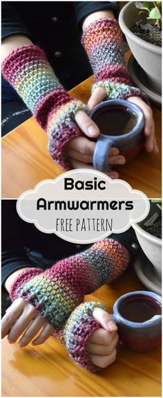 Basic Armwarmers: Free crochet pattern and tutorial from Morale Fiber Blog