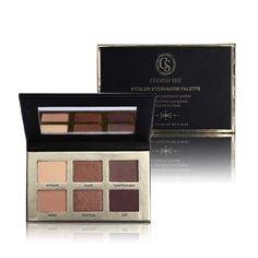 Nuova marca di cosmetici 6 colori matte natural eye shadow palette naked ombretto nude palpebra trucco waterproof con mirror