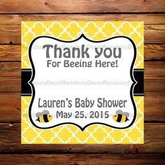 Digital File - Mom to Bee Chapstick Party Favor Card - Party Favor - Lip Balm Favor - Bee Theme - Baby Sprinkle - Printable - Mommy to Bee - by RansburyDecor