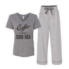 Women's Pajama Set // 2 Pcs. Pajamas for Women // Womens Clothing // Pajama Pants for Women // Pajama Set // Comfy Clothing // Loungewear by LatteLifeInc on Etsy