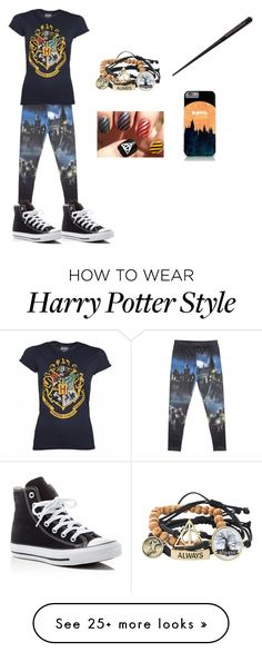 """Hogwarts"" by mpcool19 on Polyvore featuring Converse"