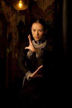 """Zhang Zi Yi demonstrating The Ba Gua Zhang """"Millstone Pushing """" Posture from the movie Grandmaster!"""