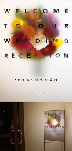 shun yonemura  ryowedding welcomeboard Reception, Graphic Design, Receptions, Visual Communication