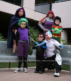 Coolest Halloween Teen Titans Group Costume... This website is the Pinterest of costumes